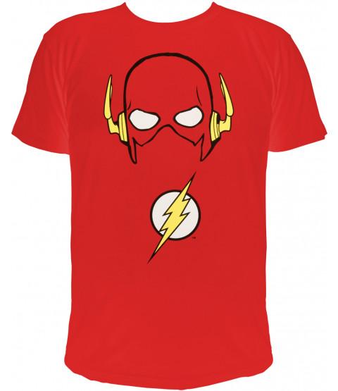 "The Flash - Herren T-Shirt, rot  - 100% Baumwolle - ""Flash´s Maske"""