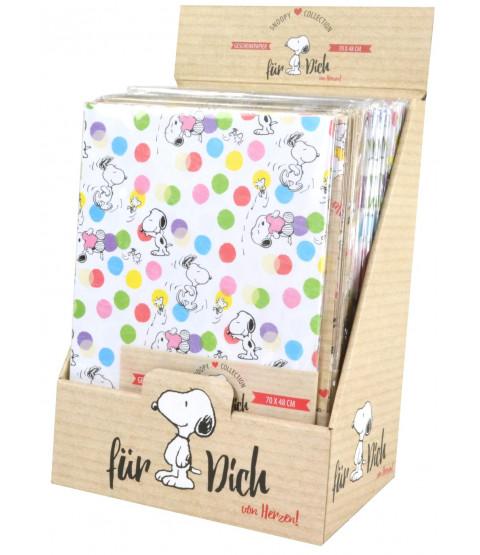 Snoopy Geschenkpapier im 24er Display
