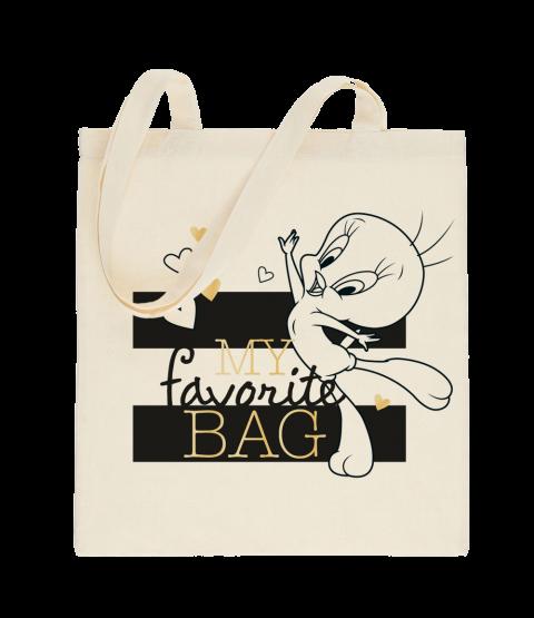 """Tweety Stoffbeutel """"my favorite bag"""""""