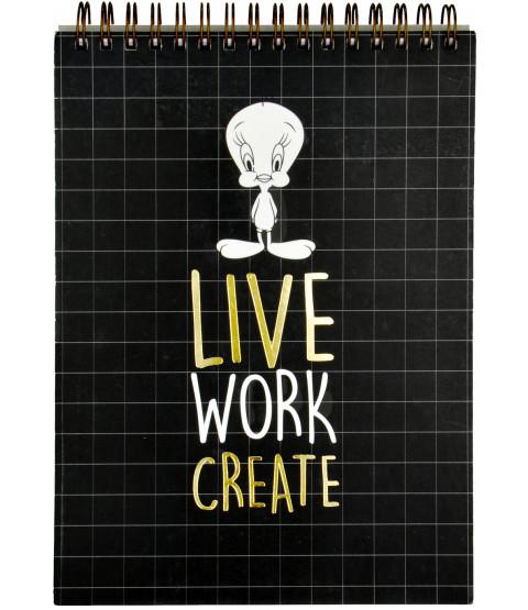 """Tweety Schreibblock """"Live Work Create"""""""