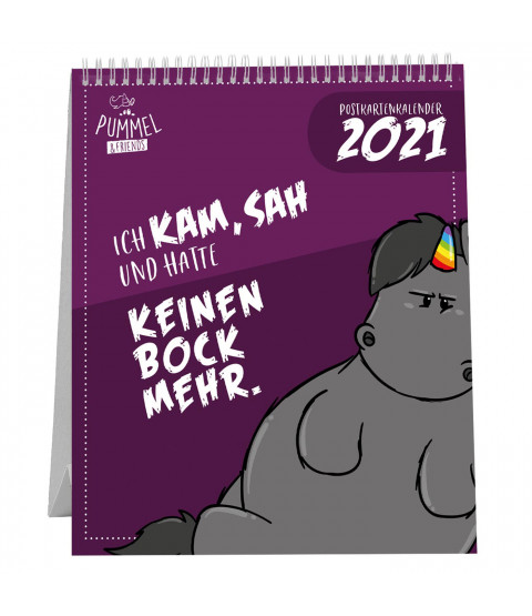 Pummel & Friends - Postkartenkalender 2021, 16,8 x 14,8 x 3 cm