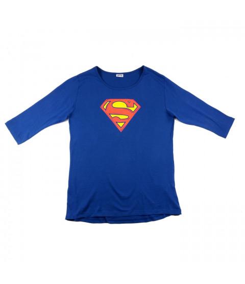 Damen Shirt, 3/4-Arm, Baumwolle - Superman - versch. Größen