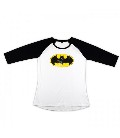 Damen Shirt, 3/4-Arm, Baumwolle - Batman versch. Größen