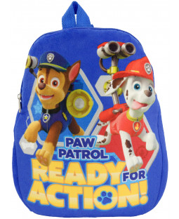 "Paw Patrol – Plüsch-Rucksack ""Ready for Action"", Polyester, 32,5 x 27 x 4cm - 0121991"
