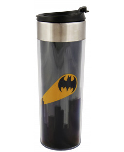 "Batman – Coffee To Go Tasse ""Bat Signal"", Kunststoff, ca. 400ml  – 0122039"
