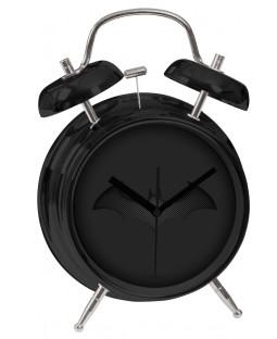 "Batman  – Wecker in Retro-Optik,  Ø10cm - ""Bat-Logo"" in Carbon-Optik - Metall - 0122045"