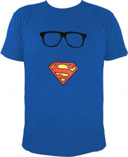 "Superman - Herren T-Shirt, blau - 100% Baumwolle - ""Superman`s Maske"""