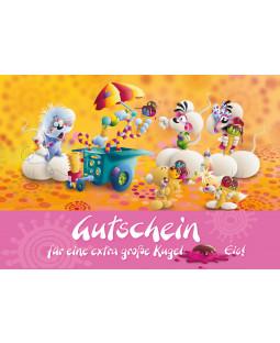 """Diddl Postkarte A6+, Nr. 19, """"Eisgutschein"""""""