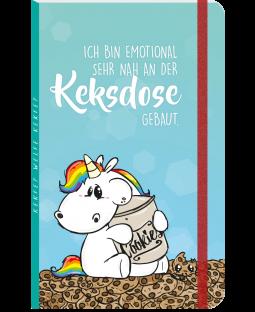 """Pummeleinhorn Notizbuch DIN A5+, """"Keksdose"""""""
