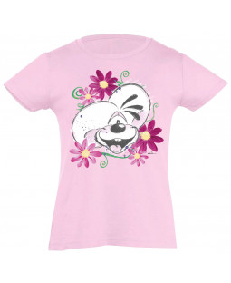 Diddl T-Shirt mit Print, rosa