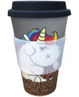 """Pummeleinhorn Bamboo Mug To Go, """"Flauschig"""", 380 ml"""