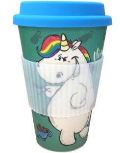 """Pummeleinhorn Bamboo Mug To Go, """"Nimmmich"""", 380 ml"""