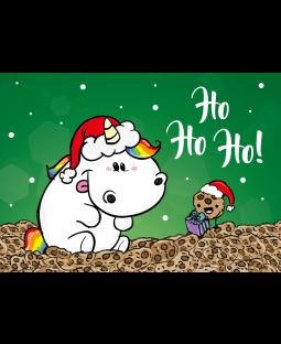 "Pummeleinhorn Postkarte A6,  ""Ho Ho ho"""