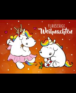 """Pummeleinhorn Postkarte A6,  """"Flauschige Weihnachten"""""""