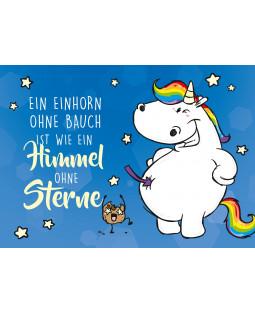 "Pummeleinhorn Postkarte A6, "" Himmel ohne Sterne"""