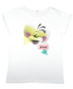 """Diddl T-shirt """"90's"""" weiß"""