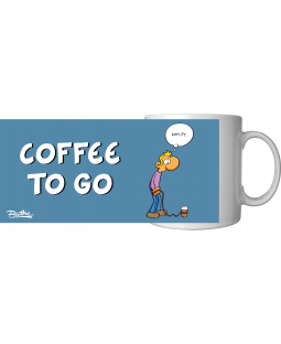 "Ralph Ruthe Kaffeetasse, ""Coffee to go"" 320ml"