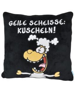 """Ralph Ruthe Kissen """"Geile Scheiße"""" 35x35 cm"""