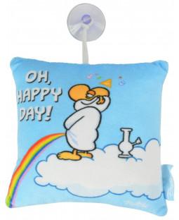 "Ralph Ruthe Kissen mit Saugnapf ""Oh, Happy Day"""
