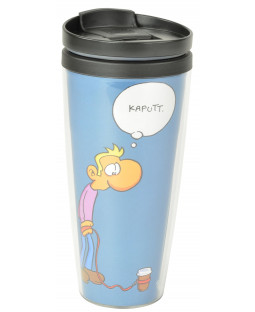 "Ralph Ruthe Mug To Go, ""Coffee to go"""