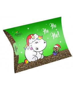 """Pummeleinhorn Weihnachts-Geschenkschachtel """"ho ho ho"""""""
