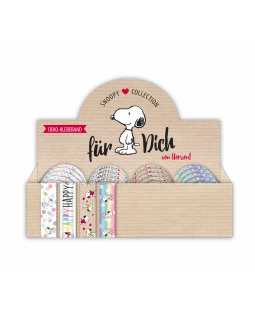 Snoopy Deko-Klebeband, 4 Motive im Display