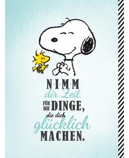 """Snoopy Collegeblock DIN A4 """"Dinge, die glücklich machen"""""""