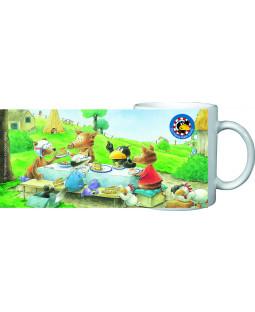 """Der kleine Rabe Socke - Tasse """"zu Tisch"""", in Geschenkbox, Porzellan 200ml"""