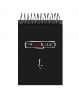 """Tacheles - Schreibblock """"Verschlimmbesserung"""", 100 Blatt, perforiert, gepunktet, 14,6 x 20 cm"""
