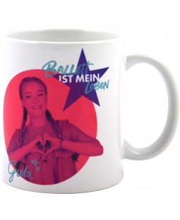 """Spotlight - Tasse Becher """"Ballett ist mein Leben"""", Steingut 320 ml"""