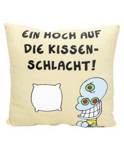 """Ralph Ruthe Kissen """"Ein Hoch auf die Wissenschaft"""" 30x30 cm"""