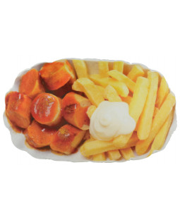 "United Labels - Kissen ""Pommes Currywurst"", ca. 50 x 30cm - 0119984"