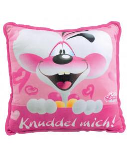 """Diddl Kissen, """"Knuddel mich"""", 40x40"""